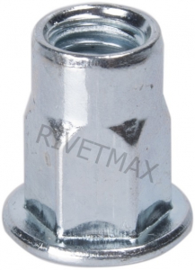 Заклепка гайка полушестигранная с плоским бортом М4 L11,0