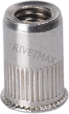 Заклепка гайка с уменьшенным потайным бортом М4 L10,0 нержавеющая
