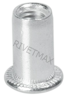 Заклепка гайка с плоским бортом М3 L9,5 гладкая алюминиевая