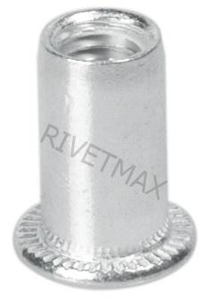 Заклепка гайка с плоским бортом M6 L15,0 алюминиевая гладкая