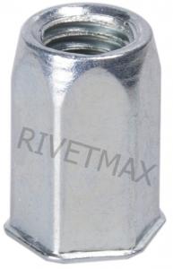 Заклепка гайка шестигранная с уменьшенным бортом М6 L16,0