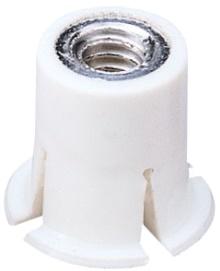 Заклепка гайка нейлоновая с плоским бортом М4 L12,7