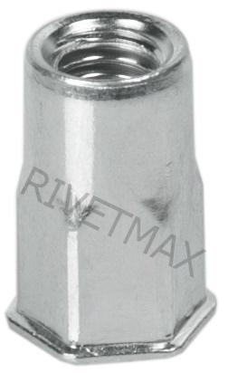 Заклепка гайка полушестигранная с уменьшенным бортом М8 L17,5