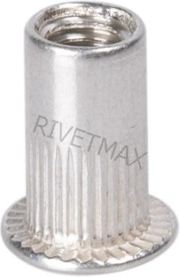 Заклепка гайка с плоским бортом М8 L18,0 алюминиевая